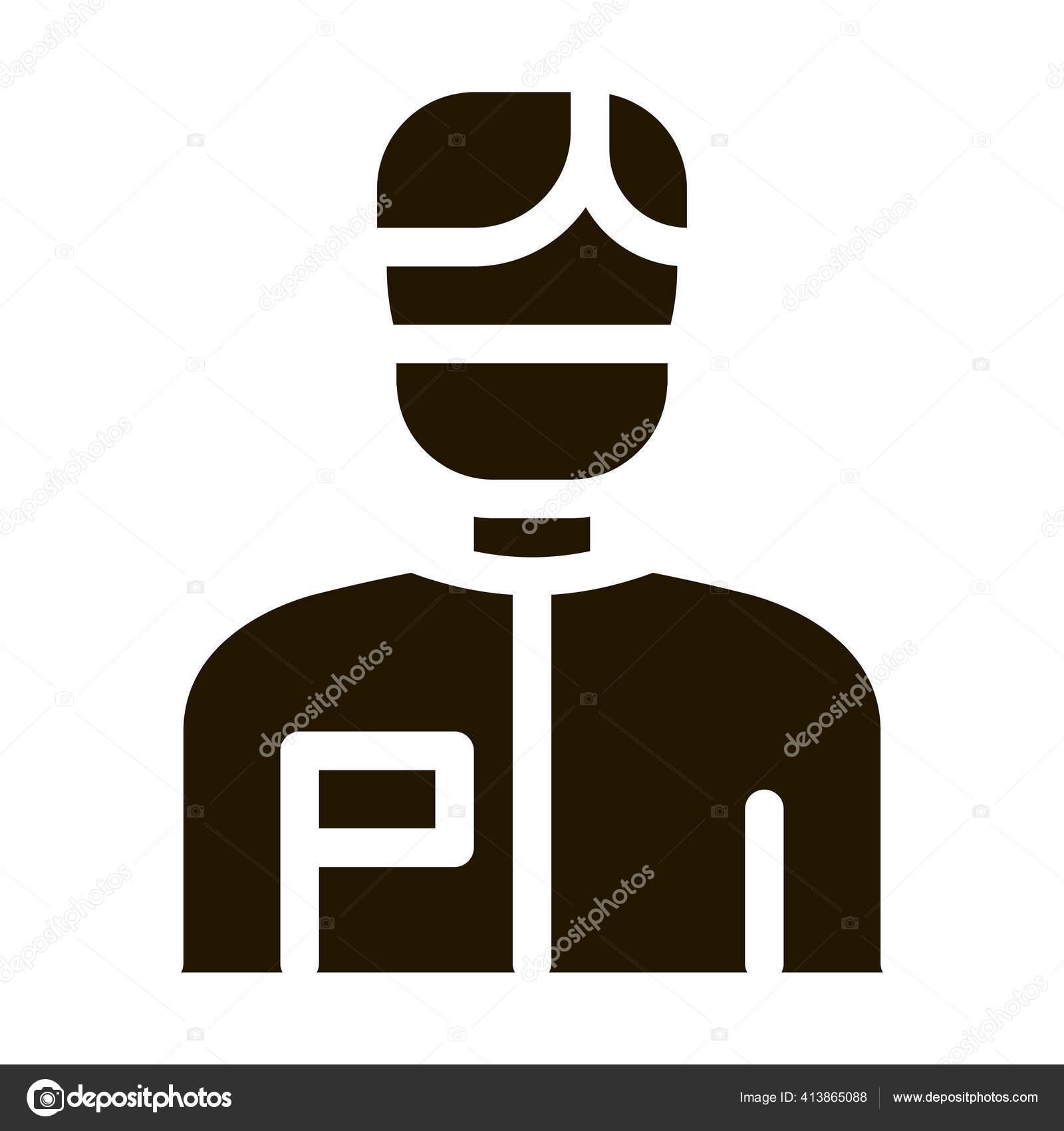 Doutor Cirurgiao Homem Glifo Icone Vetor Doctor Surgeon Man Sign Vetores De Stock C Pikepicture 413865088