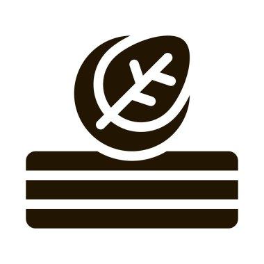 Mattress Eco Tree Leaf glyph icon vector. Mattress Eco Tree Leaf Sign. isolated symbol illustration icon