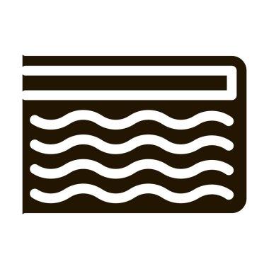 Mattress Memory Foam glyph icon vector. Mattress Memory Foam Sign. isolated symbol illustration icon