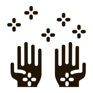 Cleaned Health Hands glyph icon vector. Cleaned Health Hands Sign. isolated symbol illustration icon