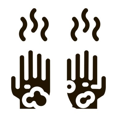 Dirty And Smelly Hands glyph icon vector. Dirty And Smelly Hands Sign. isolated symbol illustration icon