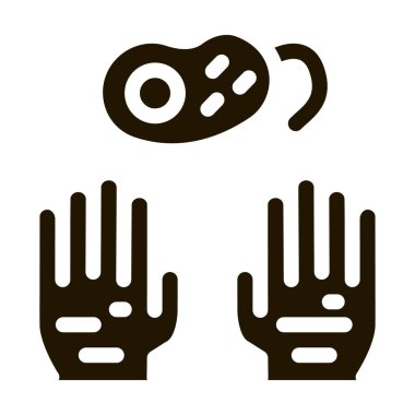 Dirty Hands And Bacteria glyph icon vector. Dirty Hands And Bacteria Sign. isolated symbol illustration icon