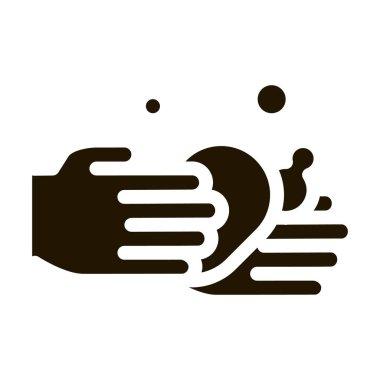 Hands Wash Liquid Soap glyph icon vector. Hands Wash Liquid Soap Sign. isolated symbol illustration icon