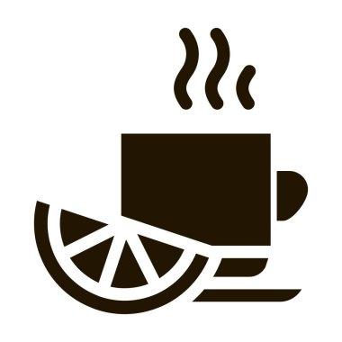 Lemon Tea Cup glyph icon vector. Lemon Tea Cup Sign. isolated symbol illustration icon