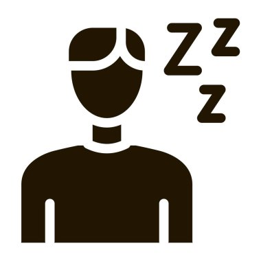 Drowsiness Man glyph icon vector. Drowsiness Man Sign. isolated symbol illustration icon