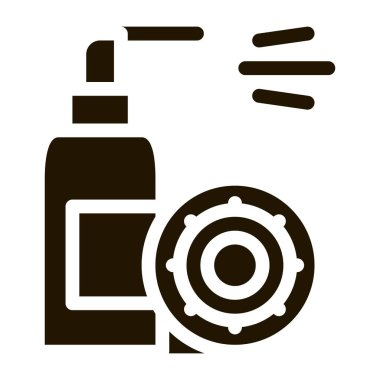 Man And Toilet glyph icon vector. Man And Toilet Sign. isolated symbol illustration icon