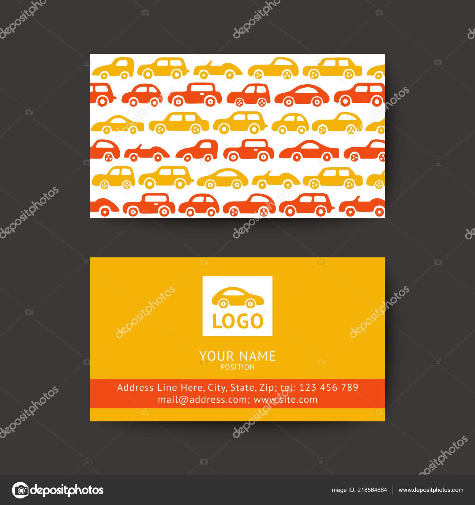 Vektor Design Visitenkarte Für Auto Vorlage Mit Auto