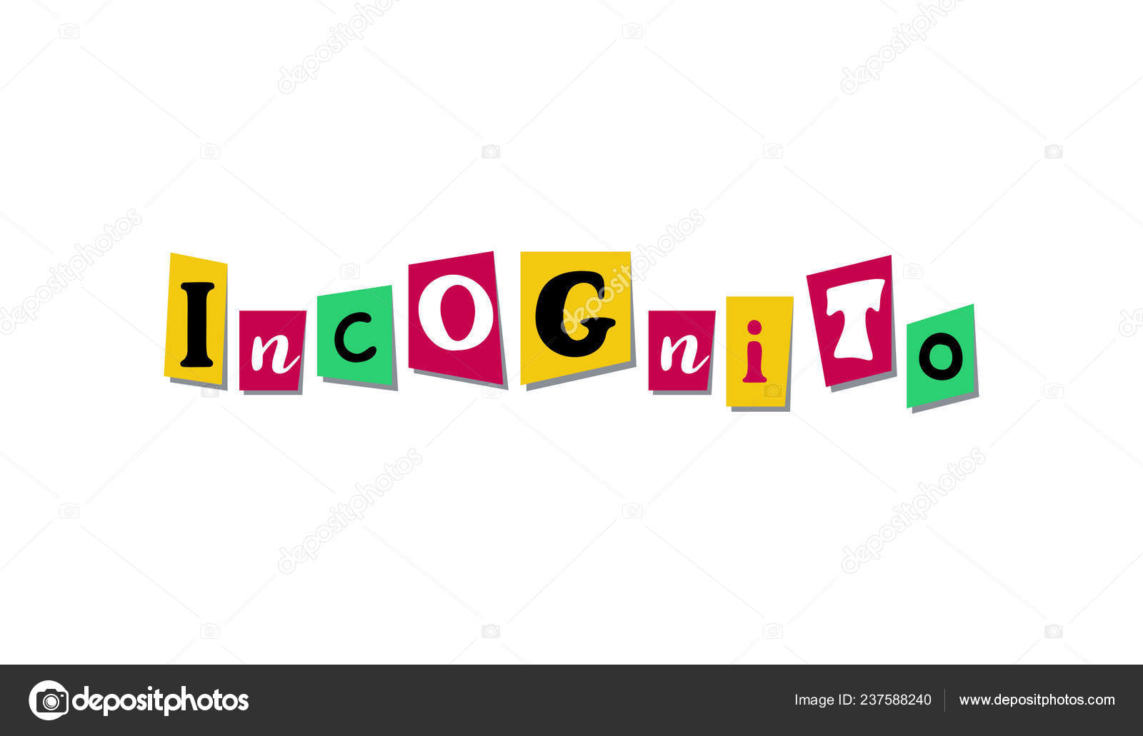 Colorful Newspaper Or Magazine Letters Incognito Hand Made Collage Of Vector Word For Scrapbooking Or Crafts Stock Vector C Peliken 237588240