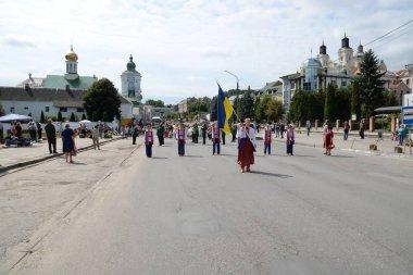 Shevchenko Street in Kremenets, Ternopil region.Ukraine
