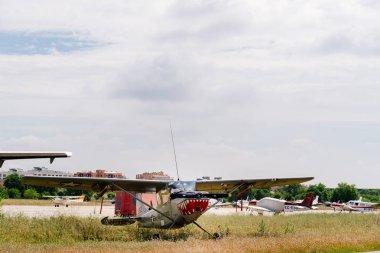 Cessna L-19 Bird Dog aircraft during air show