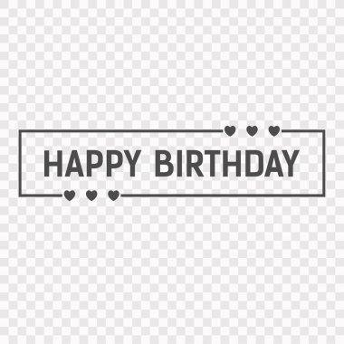 Happy Birthday Icon. Stock Vector Illustration