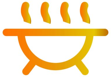 Baby shower vector icon. style is bicolor flat symbol, orange and gray colors, rounded angles, white icon