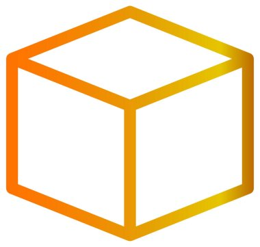 Cube icon. vector illustration on white background icon