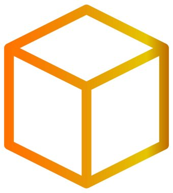 Cube icon. vector illustration style is flat iconic symbol in some color versions. icon