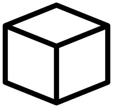 Open box vector icon on white background icon