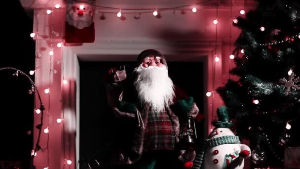 Santa Claus, a háttérben a megvilágítás