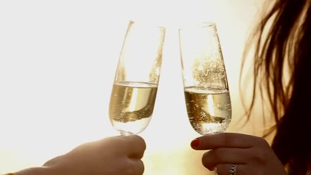 pohár bort a naplemente