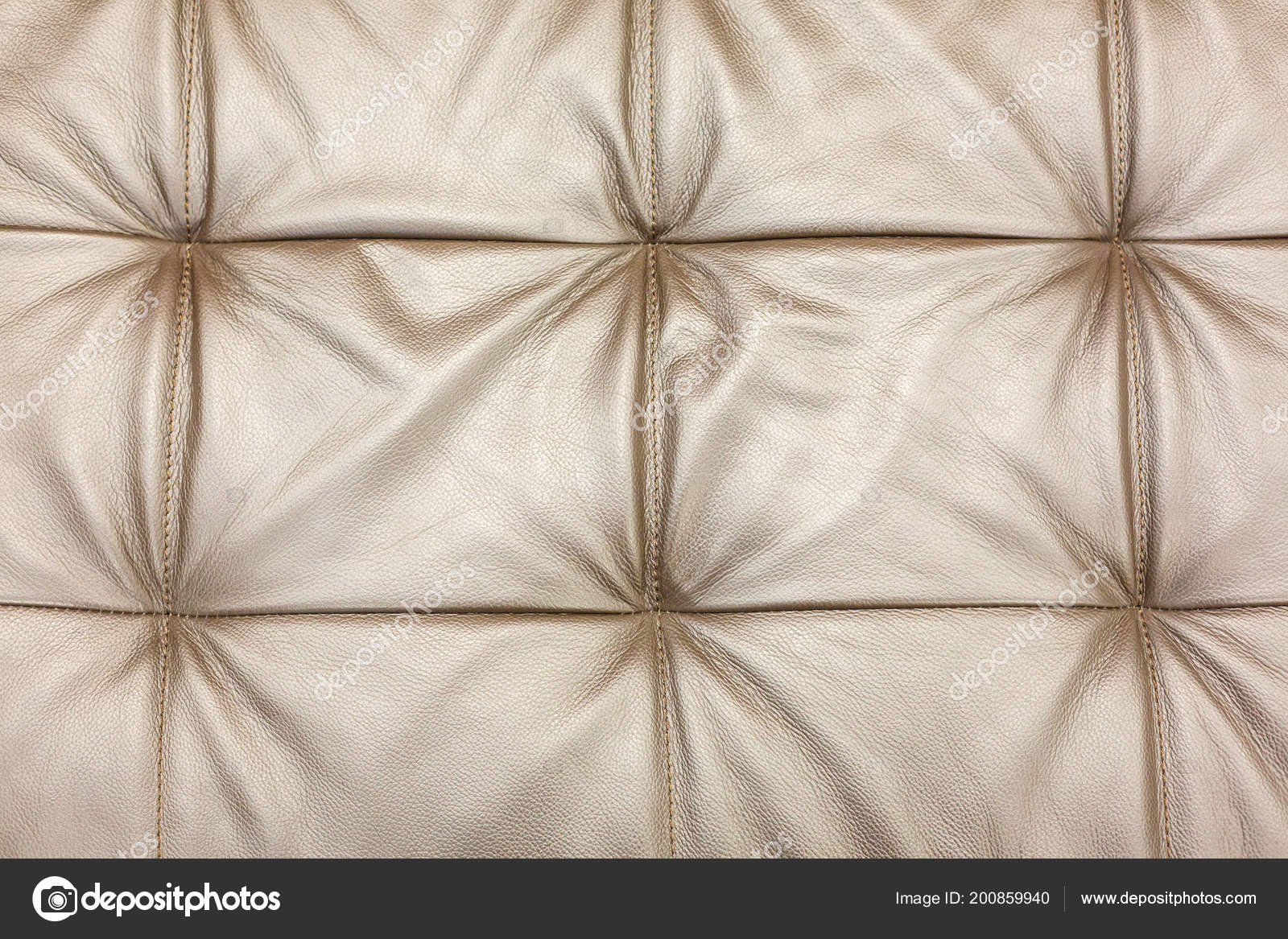 Texture Leather Beige Sofa Upholstery Background Stock Photo