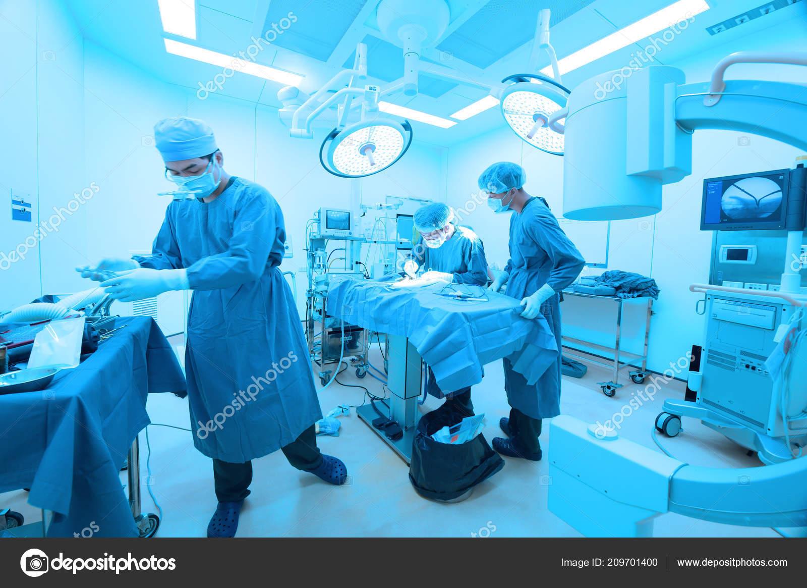 Gruppo ambulatorio veterinario sala operatoria con illuminazione