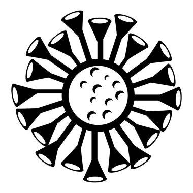 Corona virus logo vektor template icon