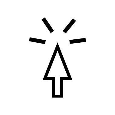 Cursor logo stock vektor template icon