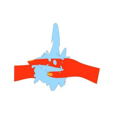 Wash hand logo vektor template icon