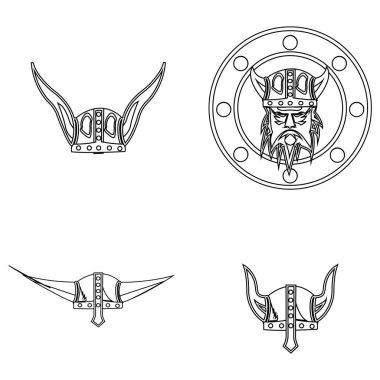 Viking logo stock vektor template icon