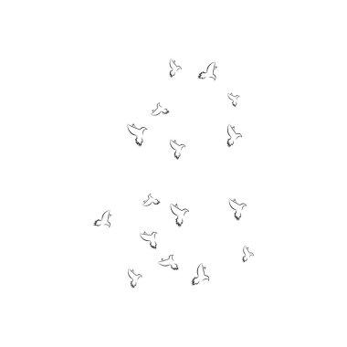 Pigeon logo stock illustration design icon
