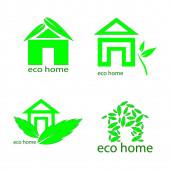 eko domácí logo vektor šablona