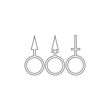 Gender logo vector icon template icon