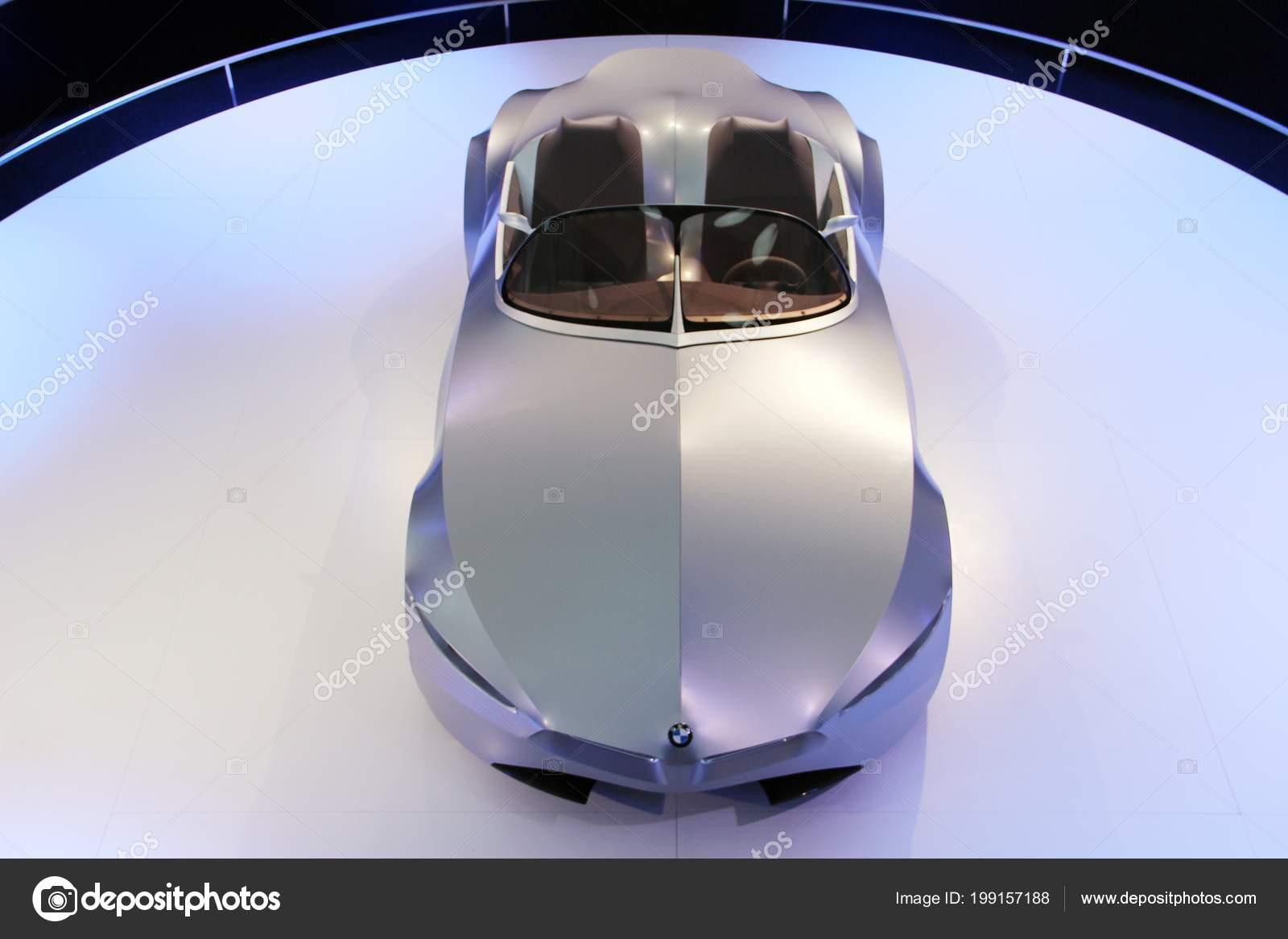 Munich Germany April 2012 Display Concept Car Bmw Gina Light Stock