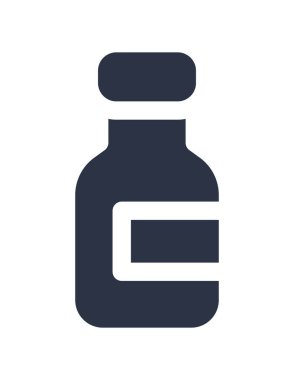 Vector illustration of bottle icon icon