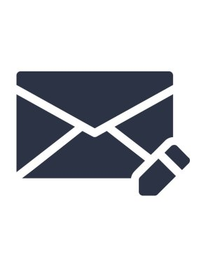 Simple vector icon of chat message notification, e-mail button icon