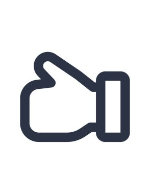 Vector illustration of  like, thumb up icon icon