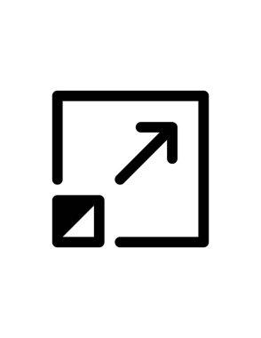 Vector illustration of maximize icon icon