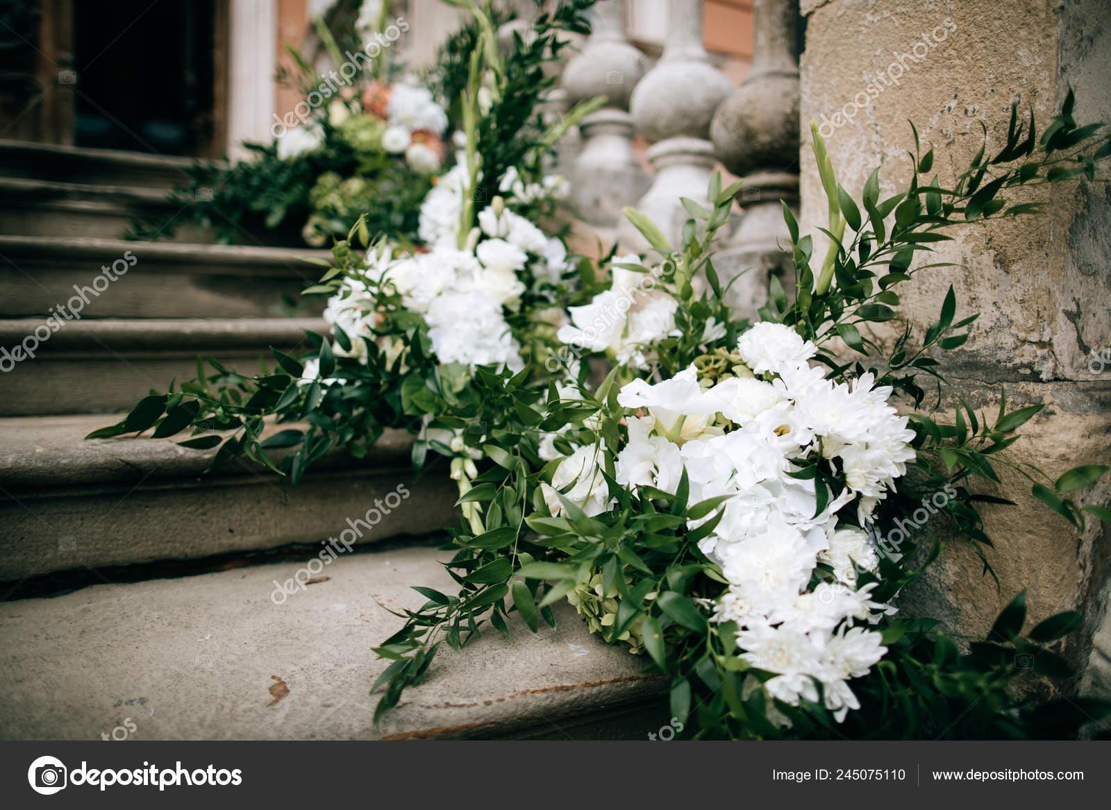 Flower Decorations Wedding Ceremony Outdoor Stock Photo C Beorm