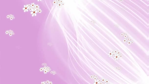 Cute Pink Wedding Background With Flowing White Veil And Tiny White Falling Flowers