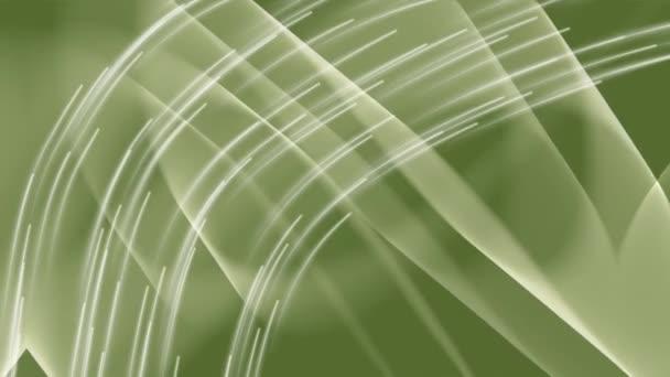 Light curves on dark green background, bokeh lights appearing randomly, loop vfx video, abstract footage