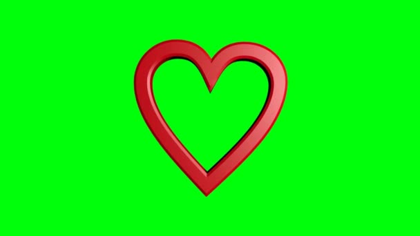 dvě roztomilá rudá srdce, která se pohybovala na zeleném. Velké srdce a malé srdce. Valentýna na den nebo na svatbu. Oznámení nočního klubu.