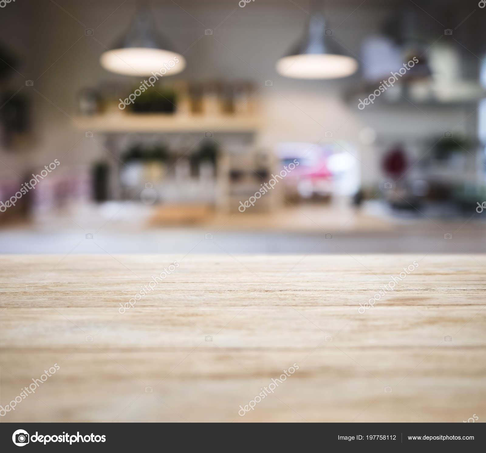 Tabelle Top Holzernen Theke Verwischen Kuche Pantry Regal Und