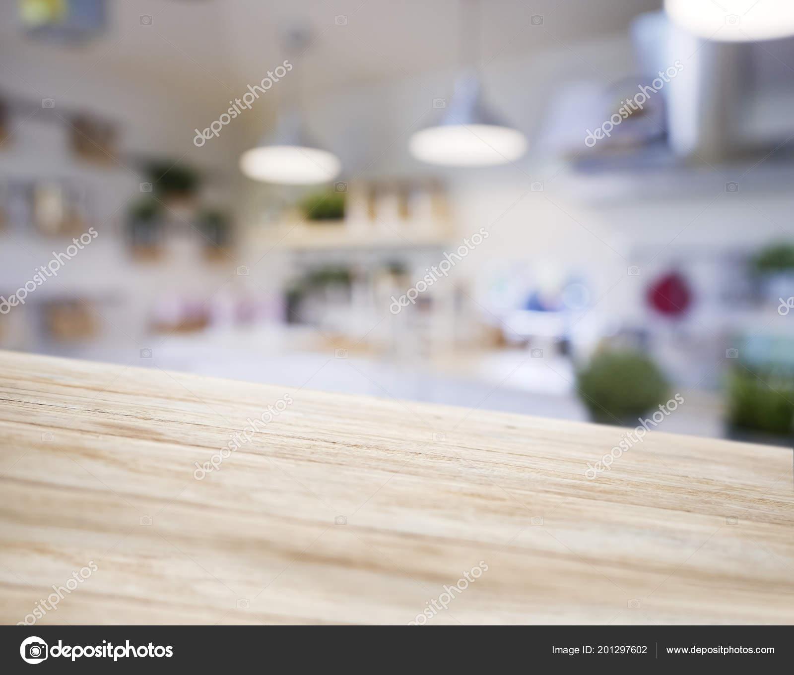Tabelle Top Holzernen Theke Verwischen Kuche Pantry Mit Regal Und
