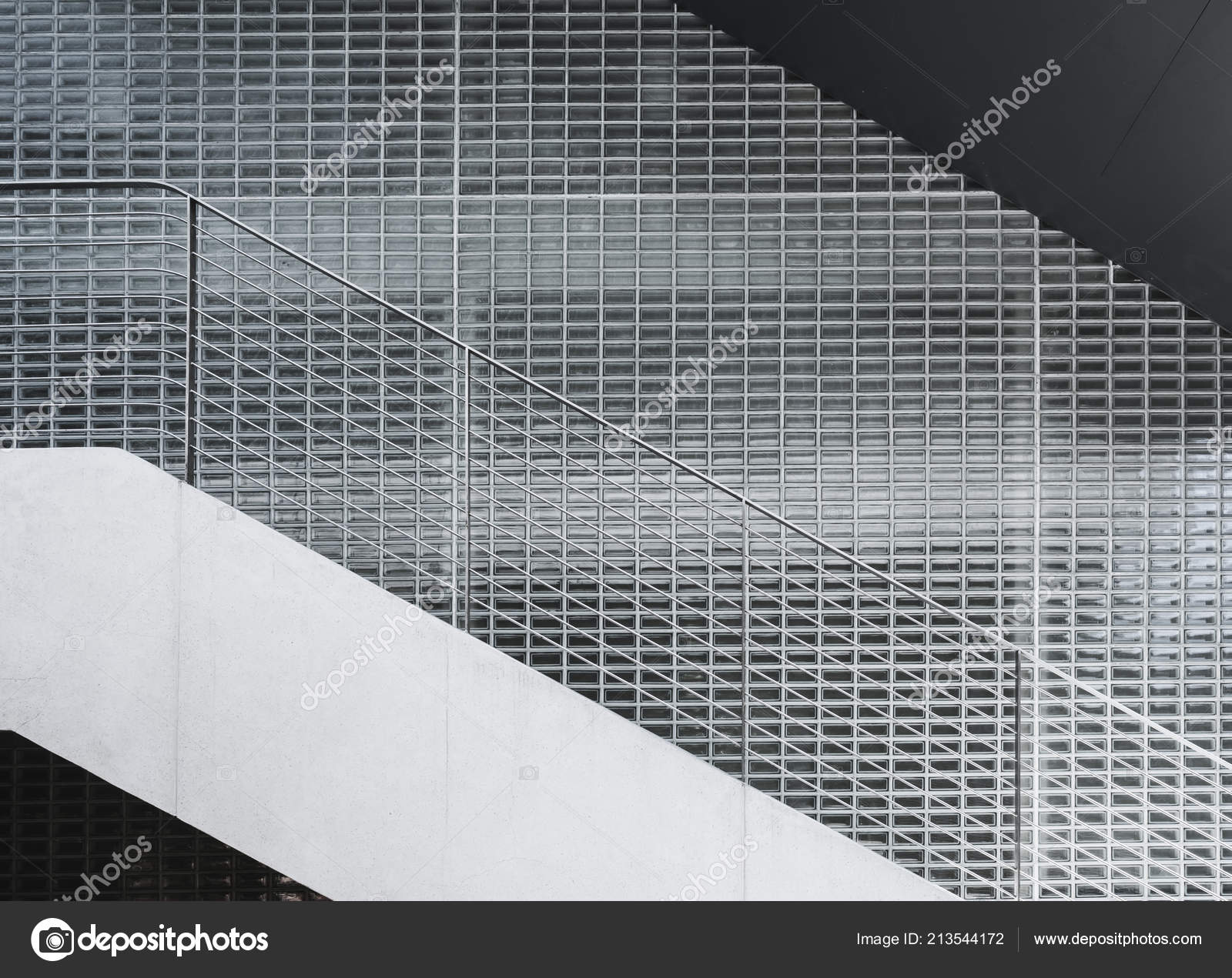 Architecture Details Wall Glass Block Stairs Modern Building
