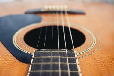 Guitar string close up Music instrument