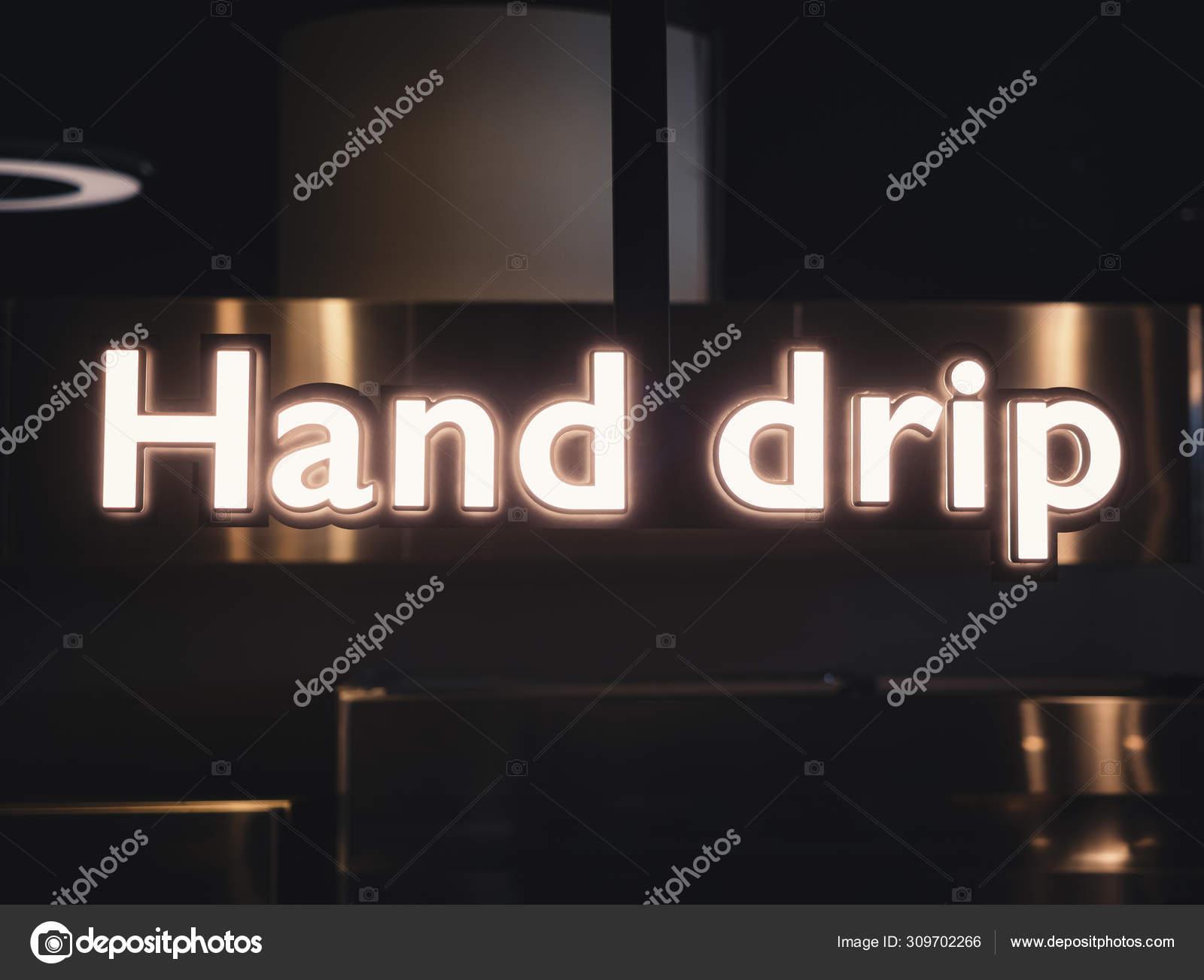 Hand Drip Neon Sign Coffee Shop Cafe Modern Signage Decoration Stock Photo C Viteethumb 309702266