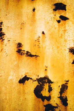 Texture of rusty with drip on steel wall background