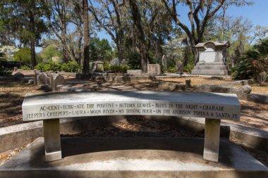 Memorial Bench at Johnny Mercer Gravesite