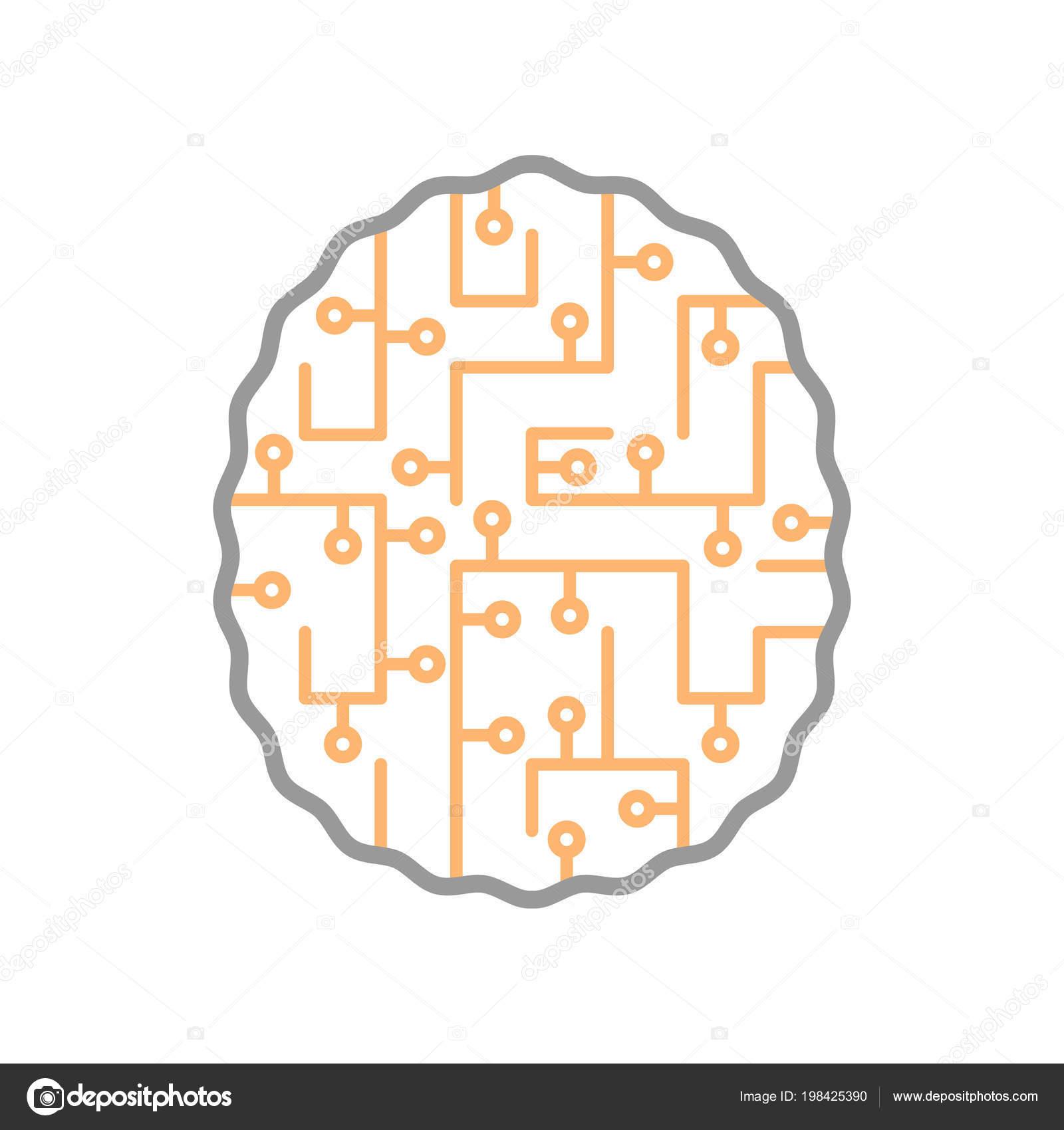 Konzept Gehirn Labyrinth Arbeit Von Neuronen Menschlichen Gehirn