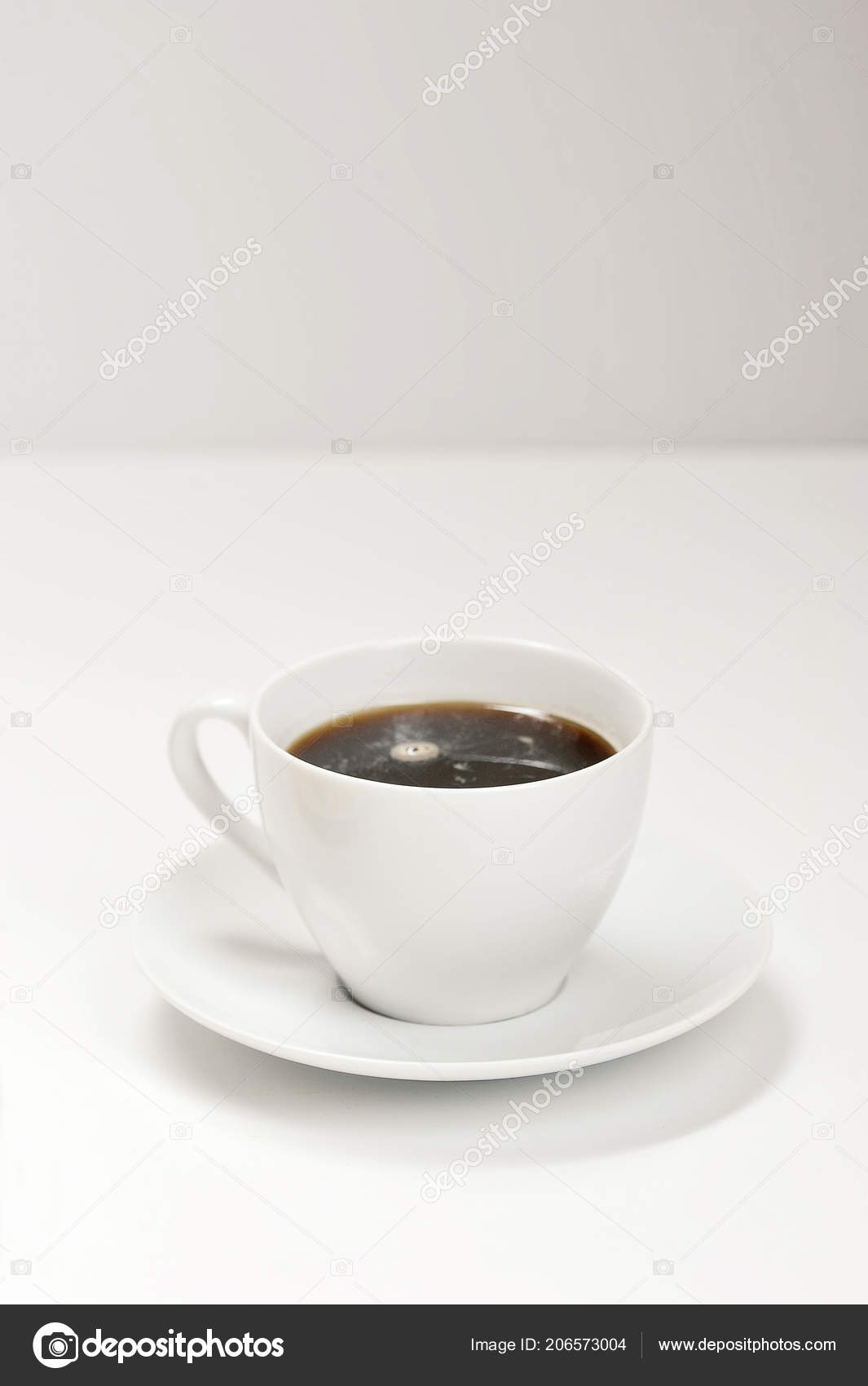 White Cup Saucer Coffee Light Background Template Mockup Design Stock Photo C Forden 206573004