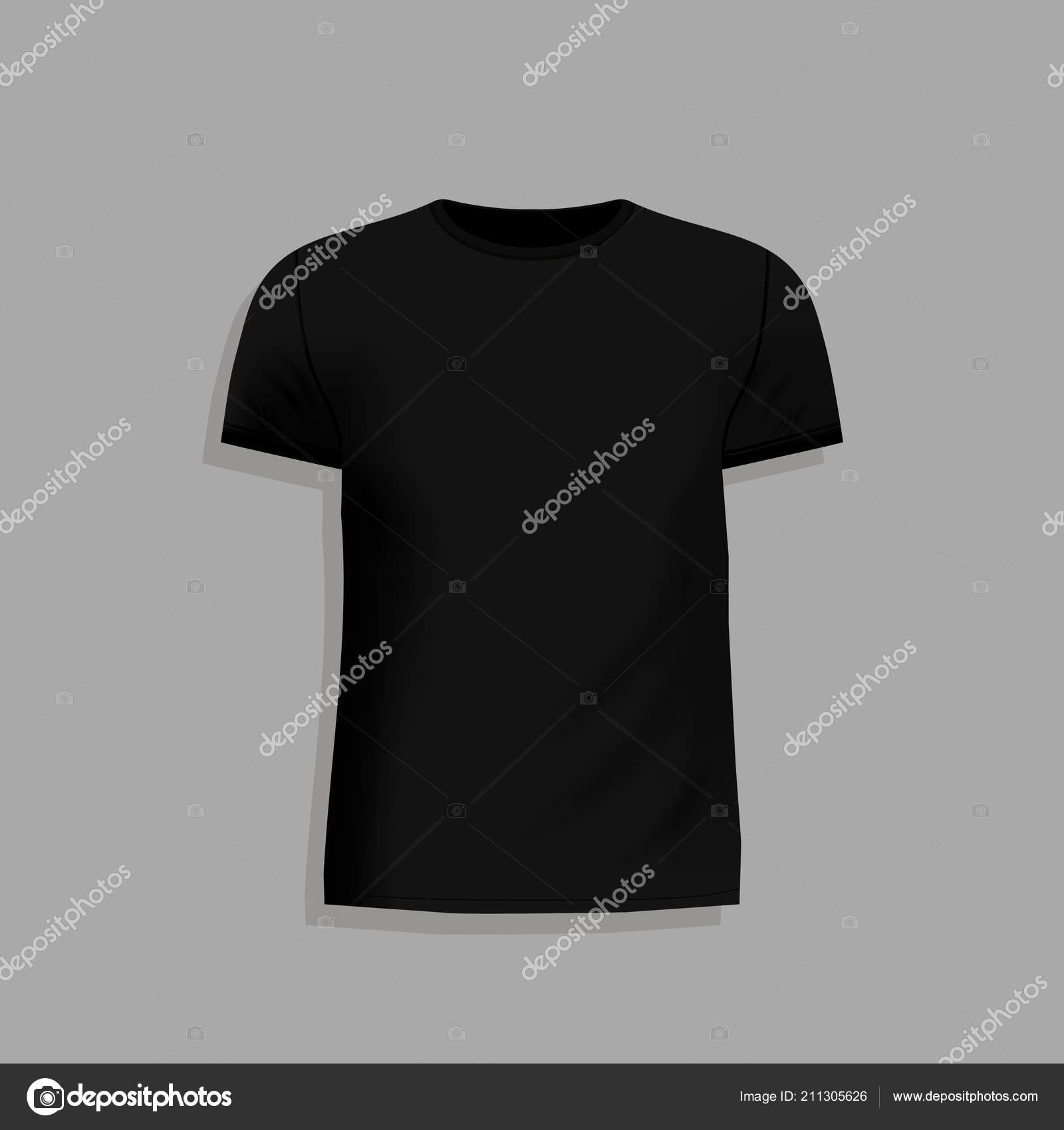 96529dac Men Black Shirt Design Template Gray Background Mock Template Tshirt — Stock  Vector