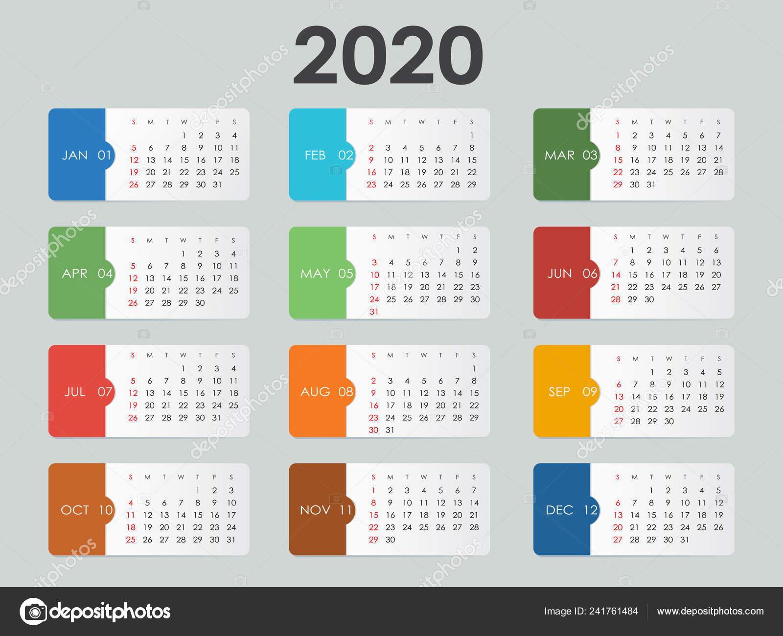 Calendario 2020 Excel Italiano.Jahreskalender 2020